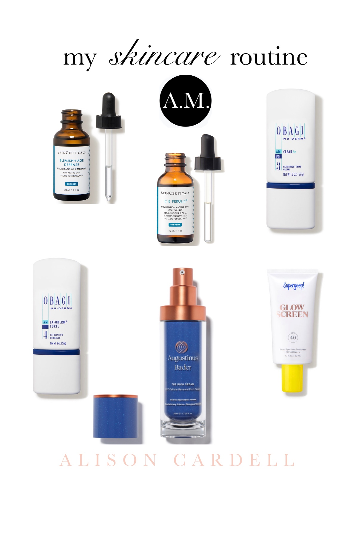 MORNING SKINCARE ROUTINE  – click for links